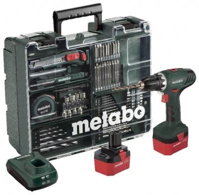 Дрель-винтоверт аккумуляторный Metabo ВS 12 NiCd с набором оснастки