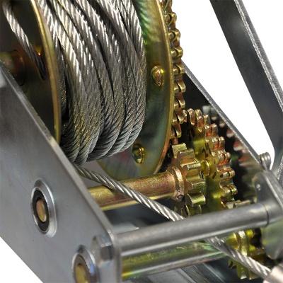 Лебедка ручная барабанная Skiper ЛР 2000 (механическая)