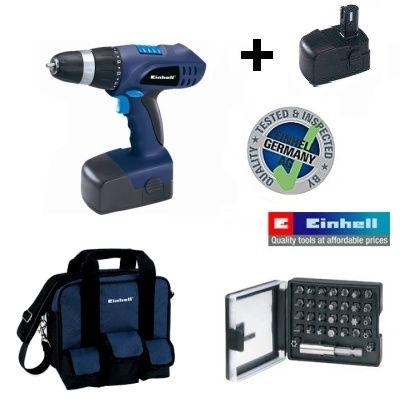 Шуруповерт аккумуляторный Einhell BT-CD 18 2B Kit (набор)