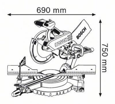 Торцовочная пила Bosch GCM 12 SD