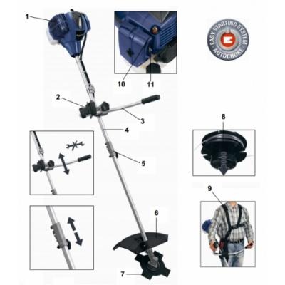 Мотокоса триммер бензиновый Einhell BG-PT 3041