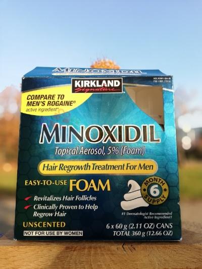Миноксидил пена (minoxidil kirkland foam 5%) 6 месяцев