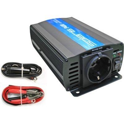 Преобразователь напряжения (инвертор автомобильный) Solaris P400 (12В/220В, 400 Вт)