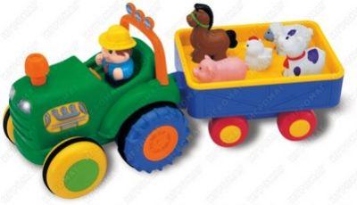 Kiddieland 024752 Трактор фермера с прицепом