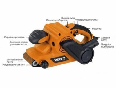 Ленточная шлифовальная машина Watt WBS-810