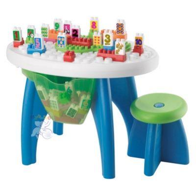 Ecoiffier 01590 Конструктор Столик с блоками, 43 детали