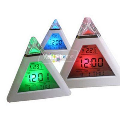 Часы пирамида светодиодные настольные будильник термометр календарь Led Clock
