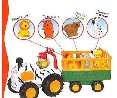 Kiddieland 029652 Трактор Сафари с прицепом