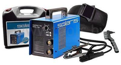 Инвертор сварочный Solaris MMA-226 + ACX (220В,10-220А) кейс
