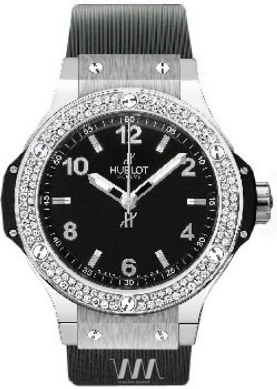 Часы наручные женские HUBLOT BIG BANG 38 STEEL DIAMONDS реплика
