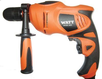 Дрель электрическая ударная Watt WSM-600