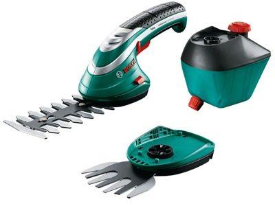Аккумуляторные ножницы Bosch Isio 3 + насадка кусторез + пульвелизатор