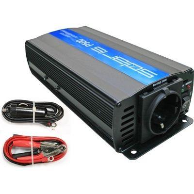 Преобразователь напряжения (инвертор автомобильный) Solaris P500 (12В/220В, 500 Вт)